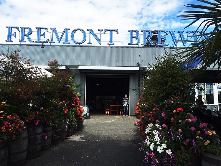 Fremont Brewing is situated right next to the Burke-Gilman Trail