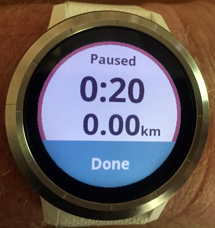 How to Record a Bike Ride with Your Garmin Vivoactive 3. As soon as you press the button, the display will tell you that the recording has paused