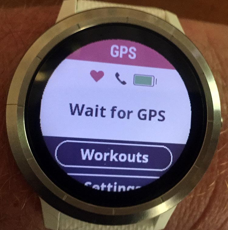 How to Record a Bike Ride with Your Garmin Vivoactive 3. Your Garmin Vivoactive 3 will ask you to wait until it finds the GPS signal