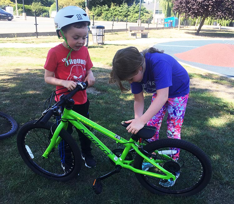 Teaching your children how to use bike tools and fix their own bikes is one of the best things you can do for them