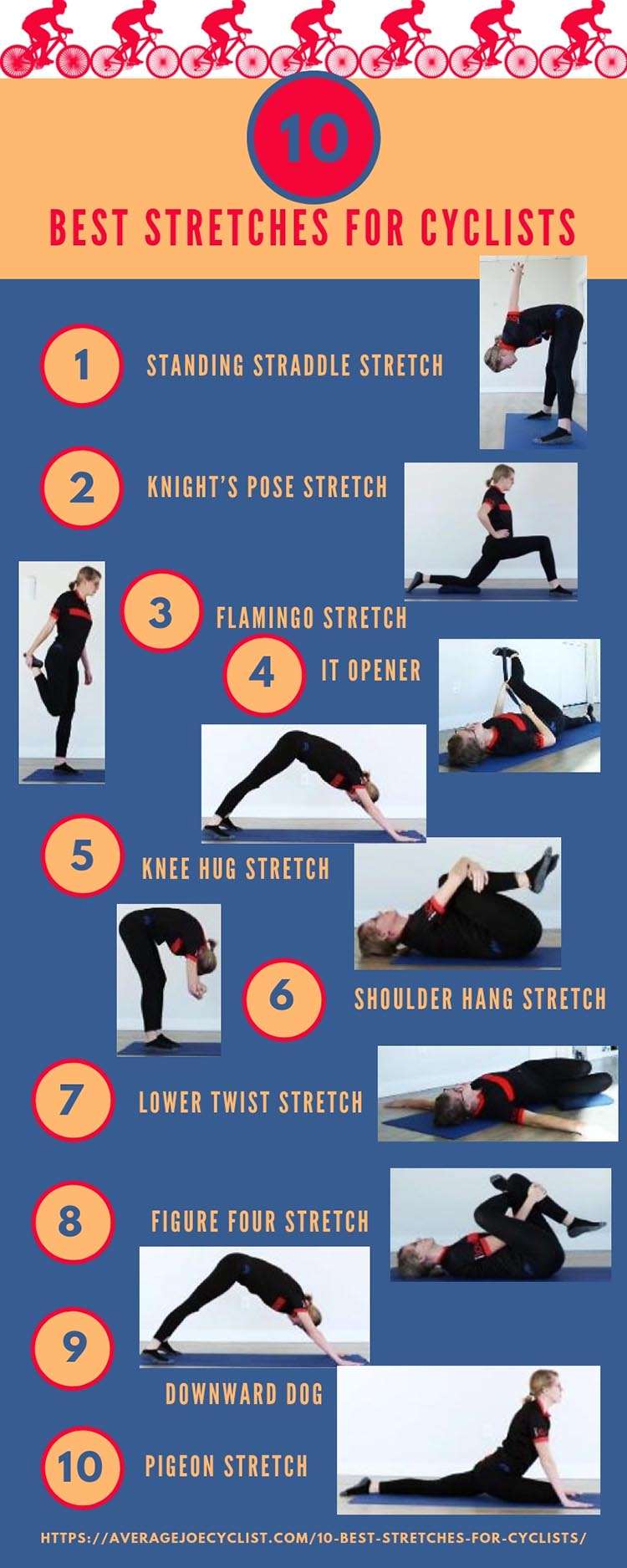 The 10 Best Stretches for Cyclists