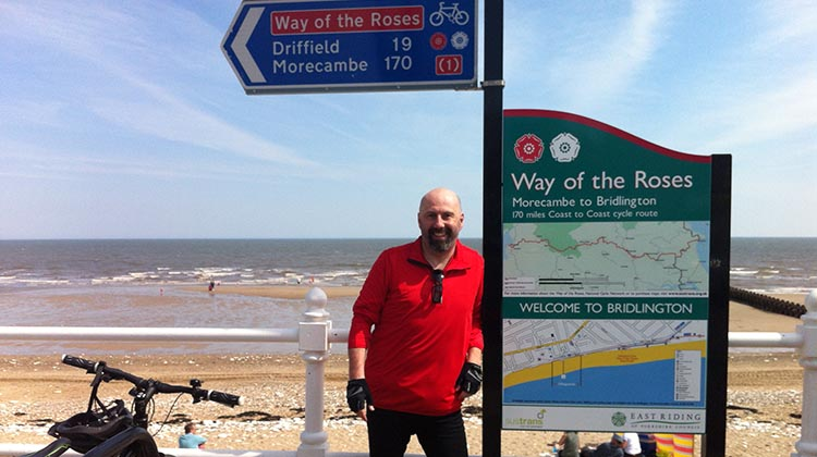 The Way of the Roses – Cycling Coast to Coast Across England Pete header