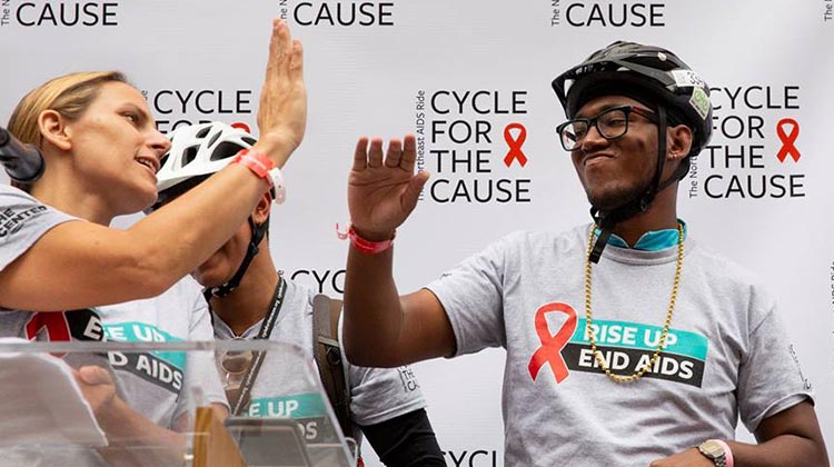 Photograph by Inspired Storytellers. Cycle for the Cause 2019. NYC's LGBT Community Center Kicks off 25th Annual Cycle for the Cause
