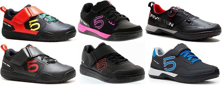 Five Ten cycling shoes come in a range of fun colors and styles. Five Ten Cycling Shoes for Urban and Mountain Biking