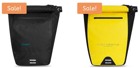 Craft Cadence Cycling Backpack Review. The Craft Cadence Waterproof Roll Top Backpack is available in yellow and black. Both versions have reflective details, and both are on sale right now