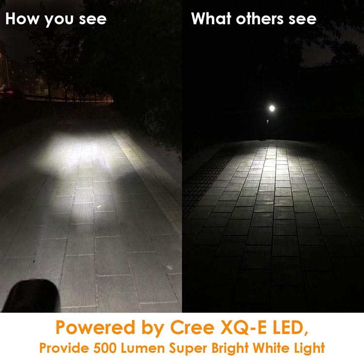 Vangogo Bike Light Set Review. 500 lumens is plenty to see your path ahead