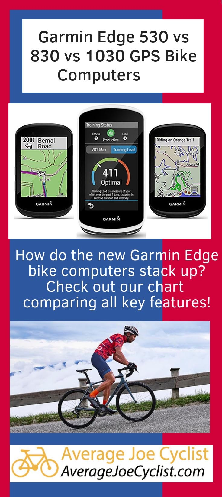 Garmin Edge 530 vs 830 vs 1030 GPS Bike Computers