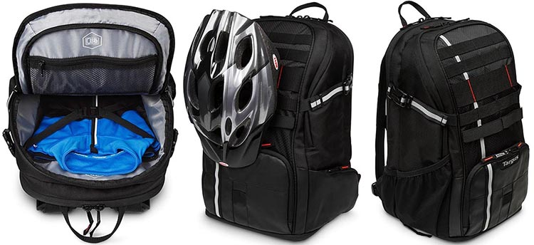 Targus Work + Play Cycling Backpack Review. The Targus Work + Play Cycling Backpack is optimized for cyclists