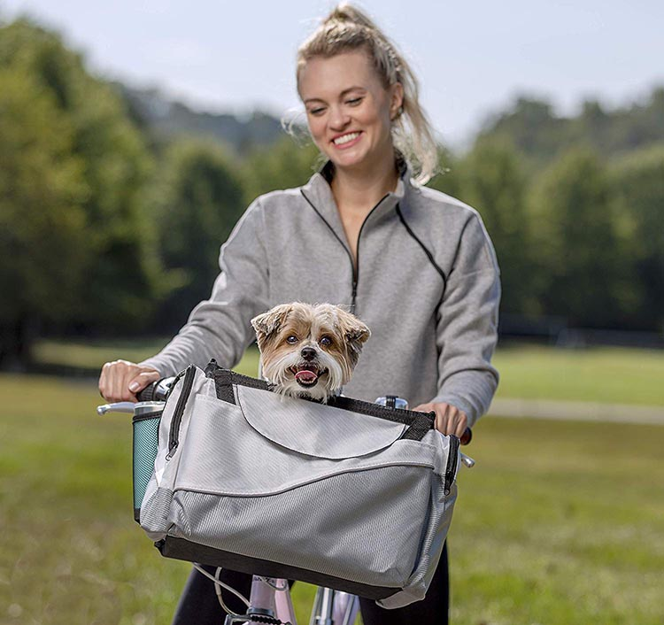 5 of the Best Dog Bike Baskets to Safely Take Your Dog Cycling in 2020. No. 1: Solvit Tagalong front-mounted Dog Bike Basket