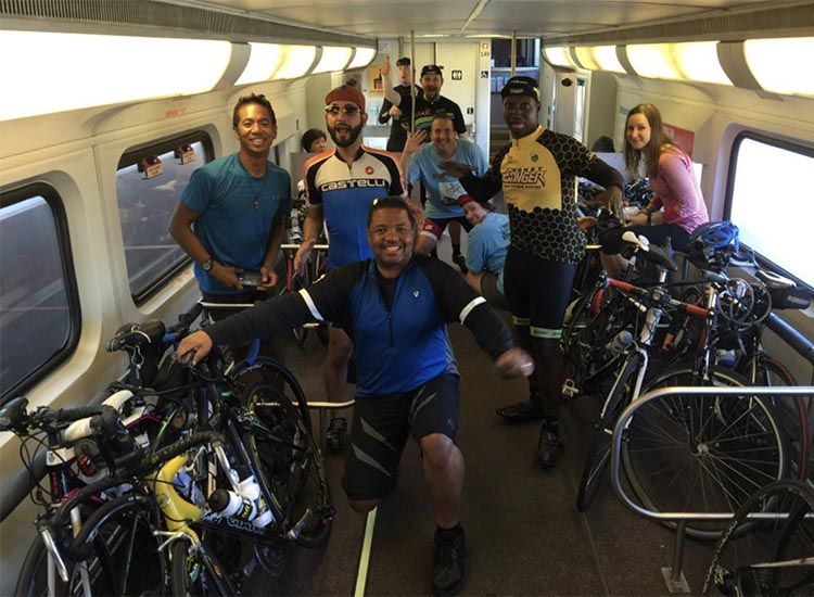 Cycling and the Post-Covid Transformation. Los Angeles Metrolink bike car. Photo credit BikeCar 101