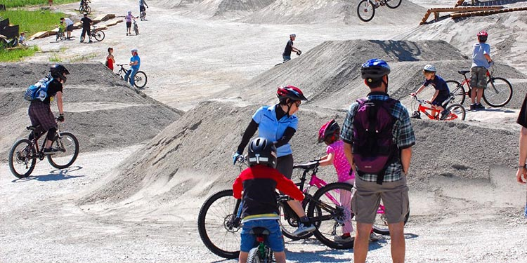 Map of the Mountain Air Bike Skills Park in the Burnaby Mountain Conservation Area. Photo credit: City of Burnaby
