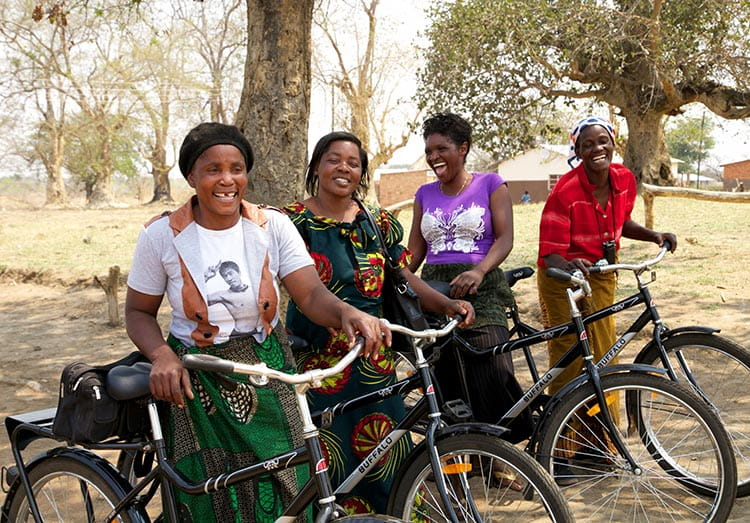 Proceeds of Pedal to Empower will benefit WBR programs that tackle gender inequality through helping girls and women better access education and healthcare through the humble bicycle.
