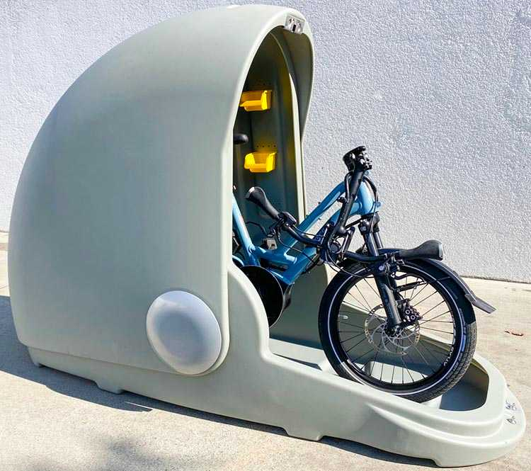 ALPEN Capsules are designed to offer secure, protected parking for bicycles