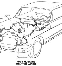 sm1964d 1964 mustang starter wiring pictorial or schematic [ 1500 x 975 Pixel ]
