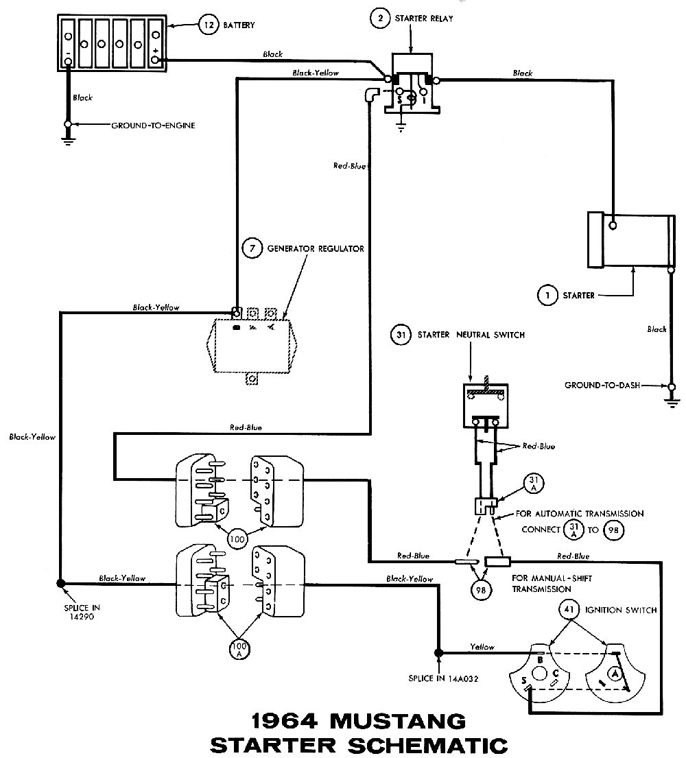 1964 Ford Falcon Alternator Wiring Diagram, 1964, Get Free