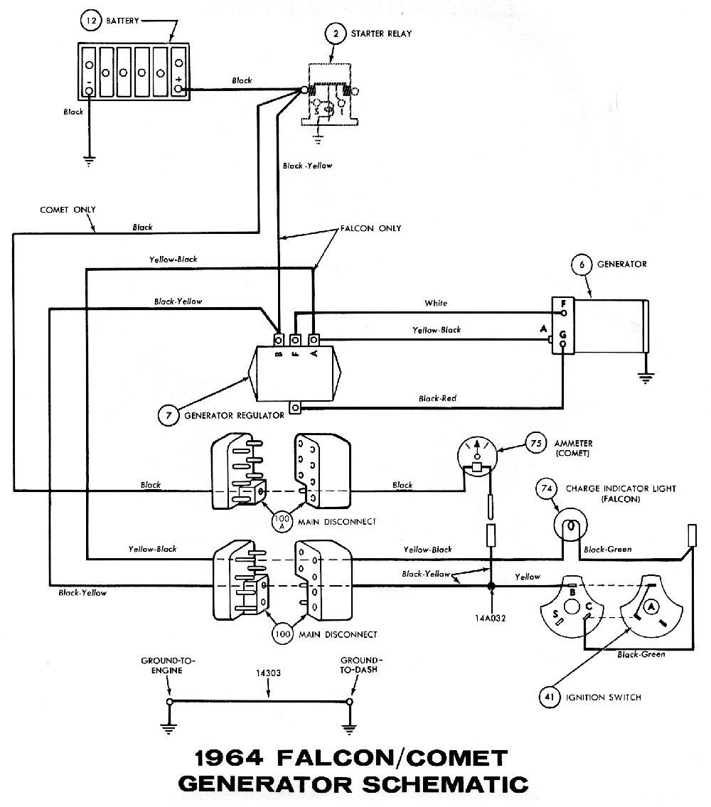 1966 ford mustang alternator wiring diagram cushman titan 1964 diagrams - average joe restoration