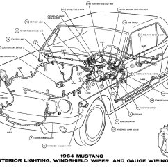 1965 Mustang Ignition Coil Wiring Diagram Prosport Water Temp Gauge 1964 Diagrams - Average Joe Restoration