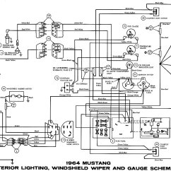 1976 Corvette Dash Wiring Diagram 2003 Cadillac Cts Engine 1964 Mustang Diagrams - Average Joe Restoration