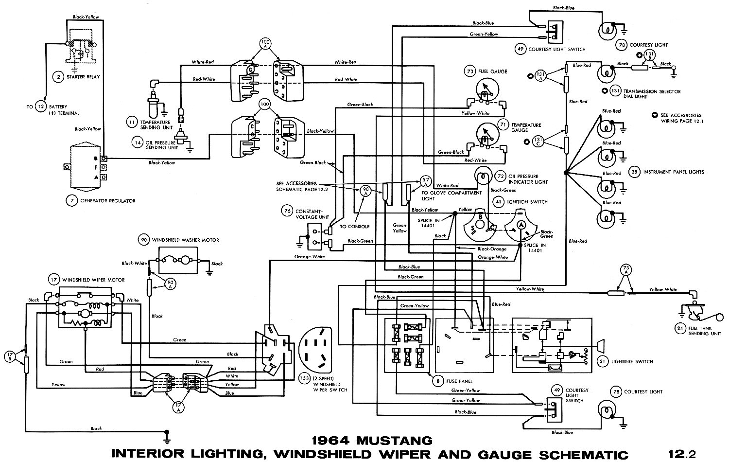 1976 corvette dash wiring diagram star delta motor connection 1964 mustang diagrams - average joe restoration