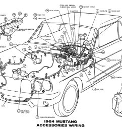 sm1964l 1964 mustang accessories pictorial or schematic [ 1500 x 1005 Pixel ]