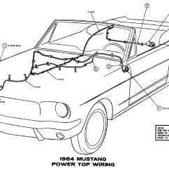Electrical Wire Diagrams Mtd Yardman Wiring Diagram 1964 Mustang Average Joe Restoration Power Top Pictorial Or Schematic