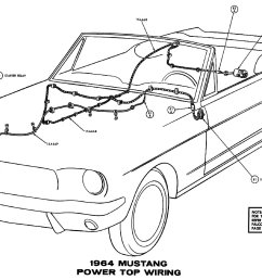 1964 mustang power top pictorial or schematic [ 1500 x 964 Pixel ]