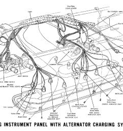 1965a 1965 mustang instrument panel with alternator charging system pictorial [ 1500 x 985 Pixel ]