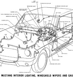 1965 mustang interior lights windshield wiper and gauges pictorial or schematic [ 1500 x 1028 Pixel ]