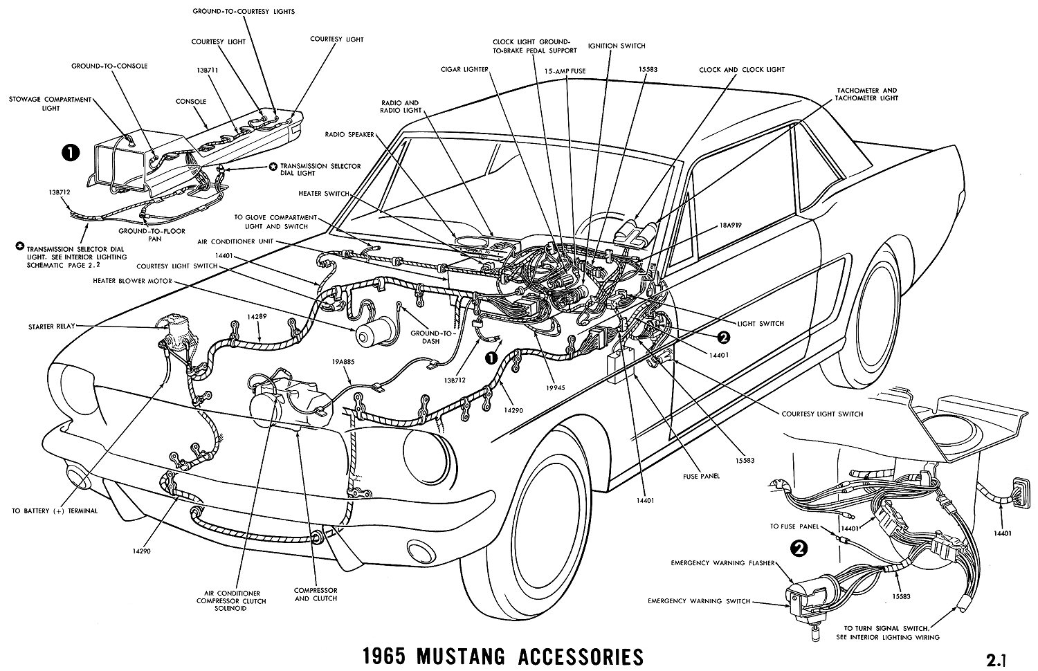 hight resolution of 1965 mustang accessories pictorial or schematic
