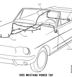 1965 mustang power top pictorial or schematic [ 1500 x 906 Pixel ]