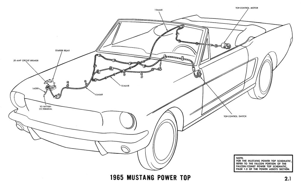 medium resolution of 1965 mustang power top pictorial or schematic