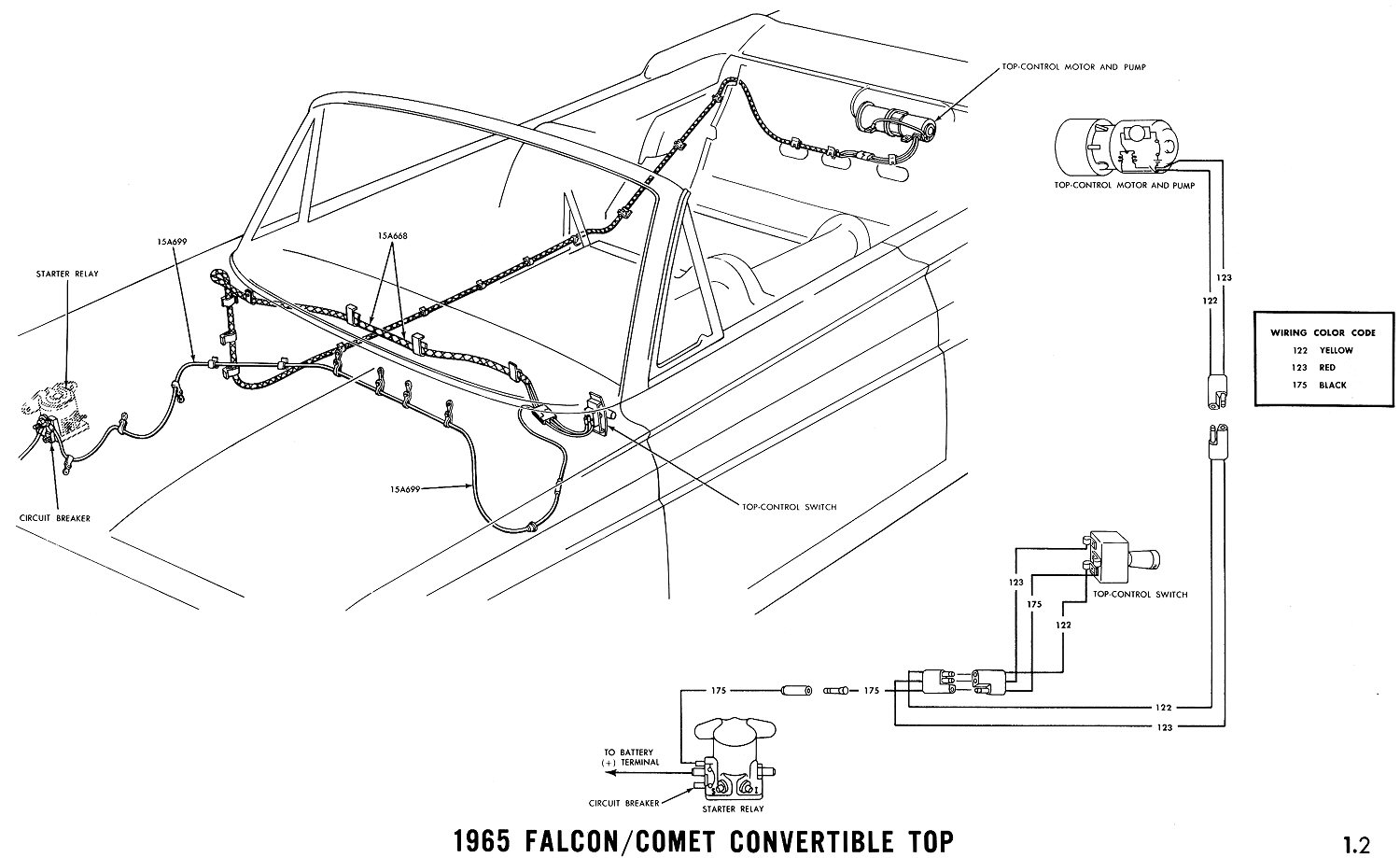 hight resolution of 1965 mustang wiring diagrams average joe restoration 641 2 mustang convertible wiring diagram