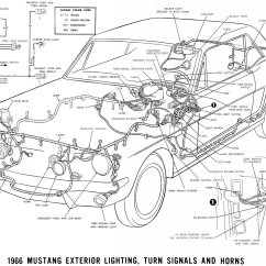 66 Mustang Ignition Wiring Diagram Stihl Fs 44 Parts 1966 Diagrams Average Joe Restoration Exterior Lighting Turn Signals And Horns