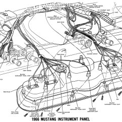 66 Mustang Ignition Wiring Diagram Ge Profile Dryer Parts 1966 Diagrams Average Joe Restoration Instrument Panel