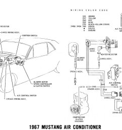 1967 mustang air conditioner pictorial and schematic  [ 1500 x 841 Pixel ]