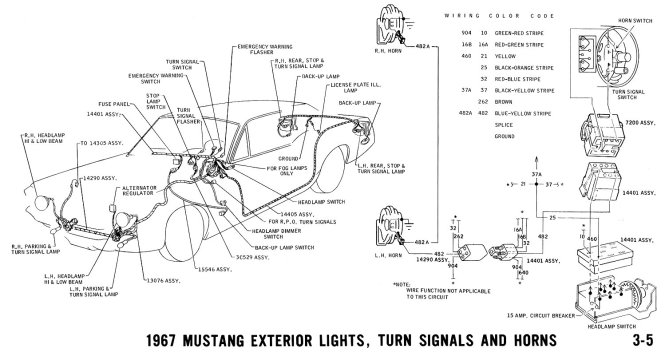65 mustang horn wiring diagram wiring diagram how i install horn rings and contacts in 65 ford mustang forum