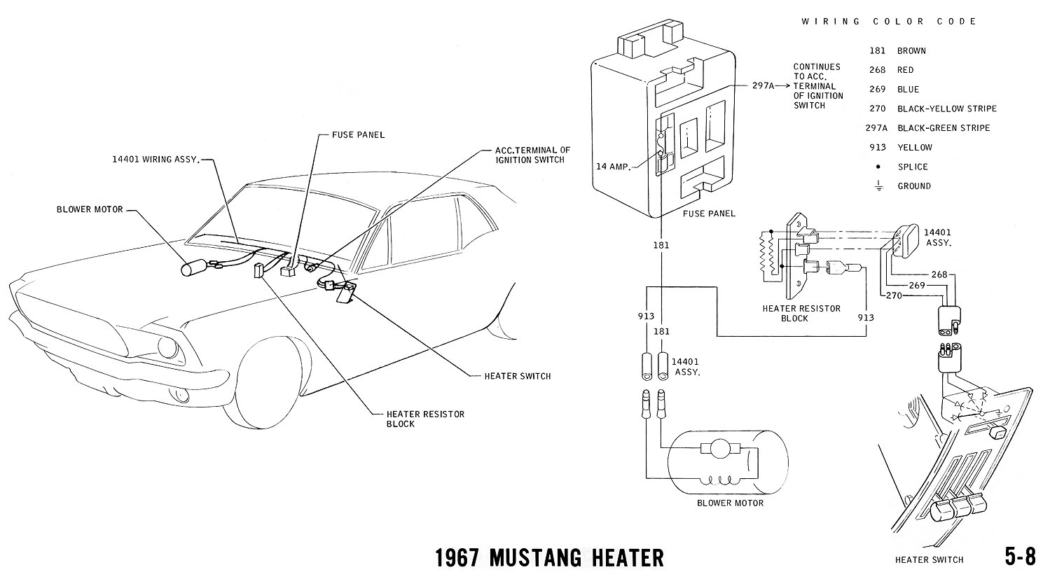 Wiring Diagrams Additionally 1965 Mustang Heater Blower