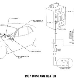1967 mustang heater pictorial and schematic [ 1499 x 827 Pixel ]
