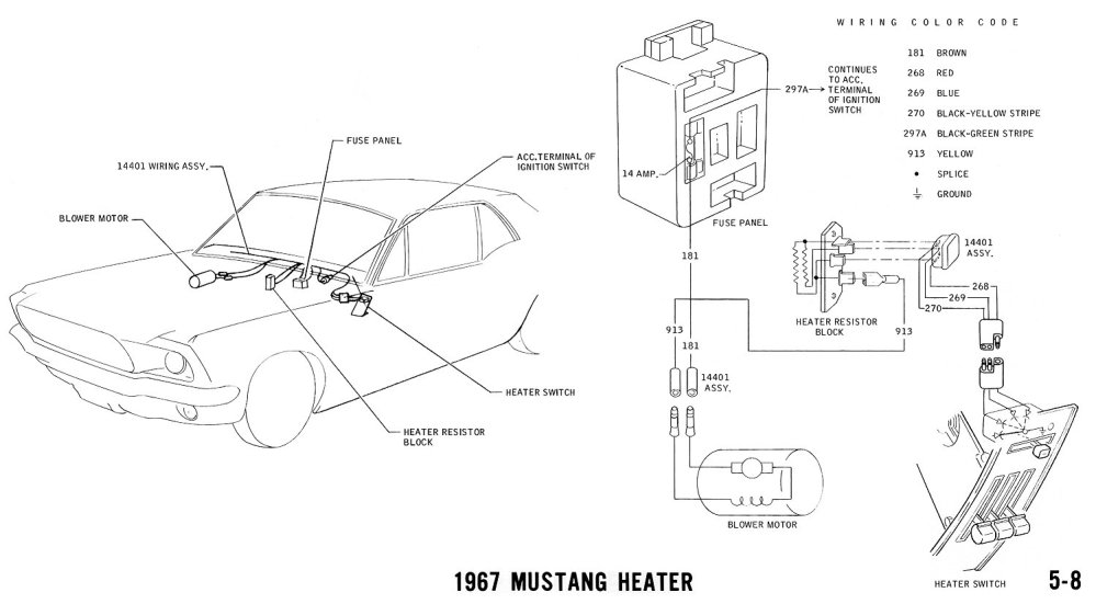 medium resolution of 1967 mustang heater pictorial and schematic