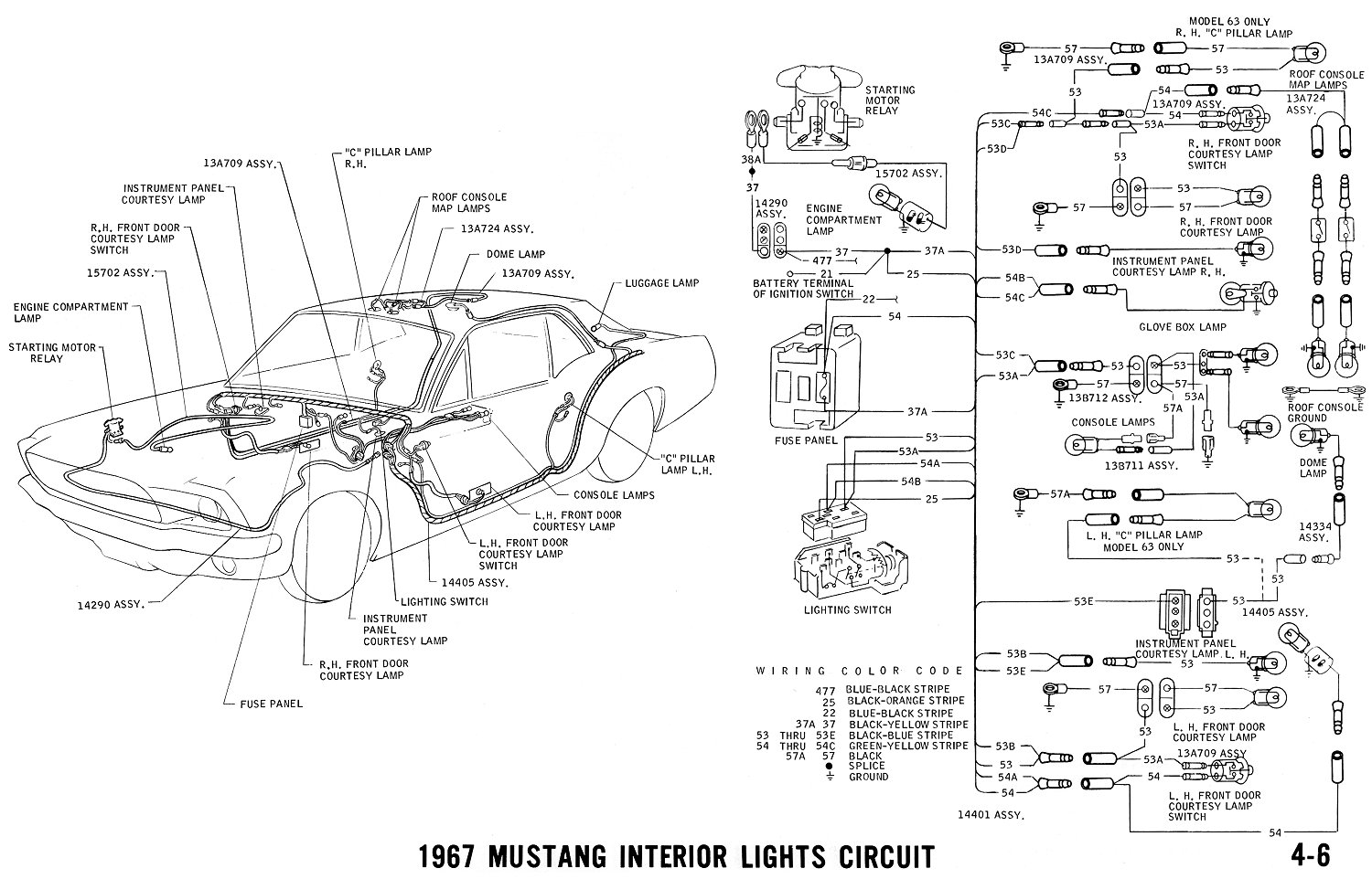 1967 mustang turn signal wiring diagram
