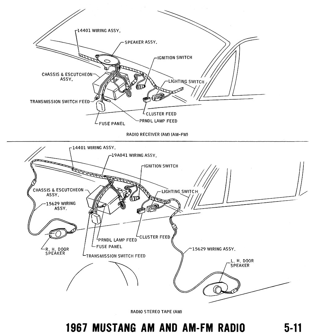 1969 mustang radio wiring diagram 1994 s10 headlight 289 1967 and vacuum diagrams average joe restoration289 10