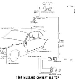 1967 mustang wiring and vacuum diagrams average joe restoration1967 mustang power top pictorial and schematic [ 1200 x 815 Pixel ]