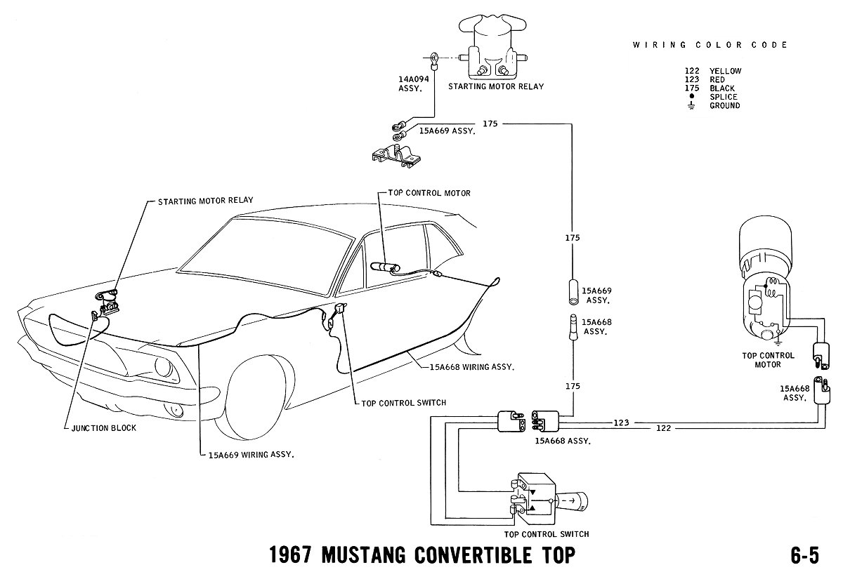 hight resolution of 1967 mustang wiring and vacuum diagrams average joe restoration1967 mustang power top pictorial and schematic