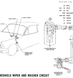 1967 mustang wipers pictorial and schematic [ 1501 x 944 Pixel ]