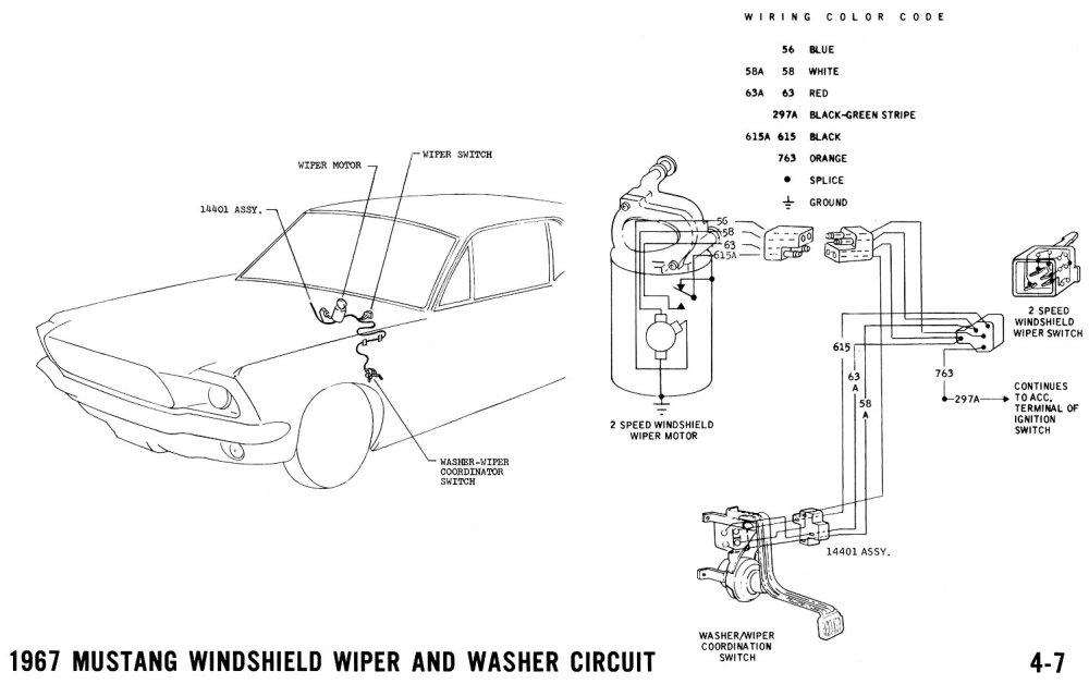 medium resolution of 1967 mustang wipers pictorial and schematic