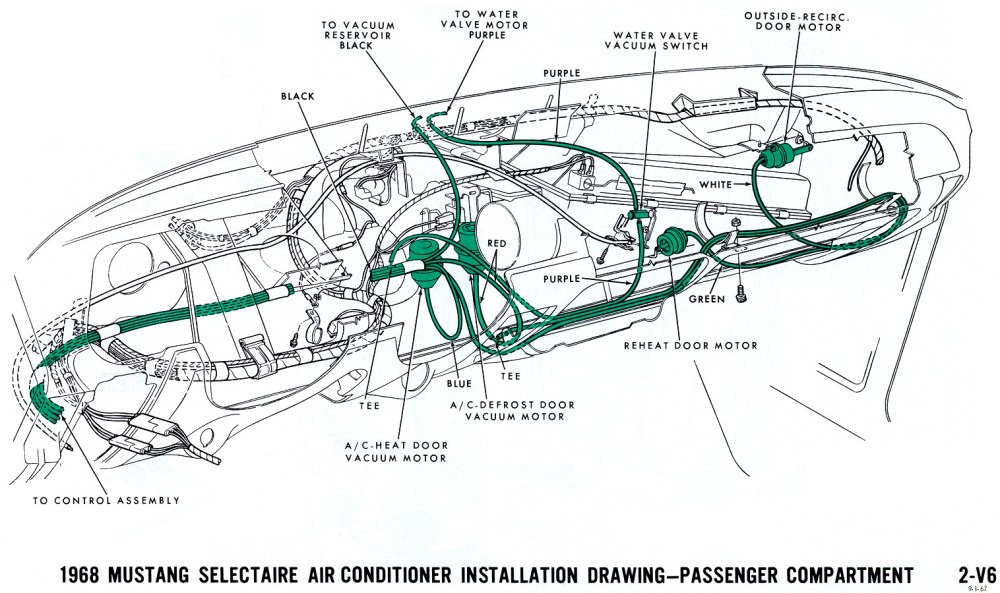 medium resolution of 1968 mustang vacuum diagram air conditioning interior