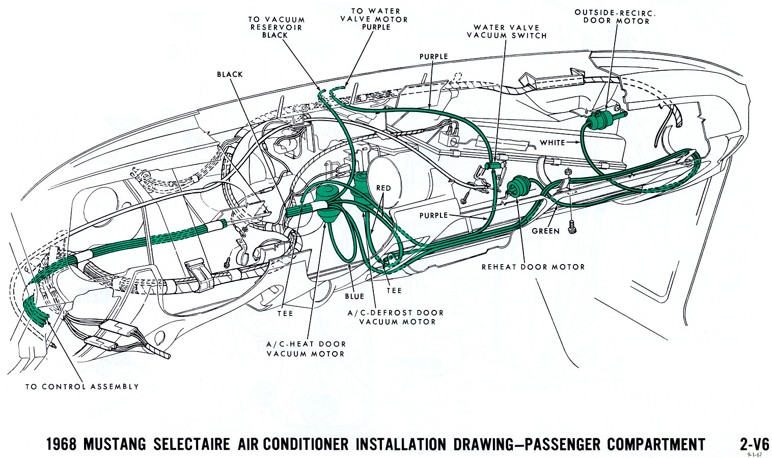 hight resolution of 1968 mustang vacuum diagram air conditioning interior