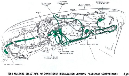 small resolution of 1968 mustang vacuum diagram air conditioning interior