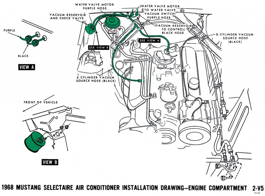 1968 mustang air conditioning wiring diagram