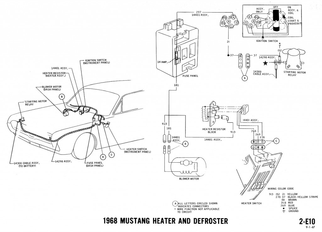 69 Mustang Wiring Diagram